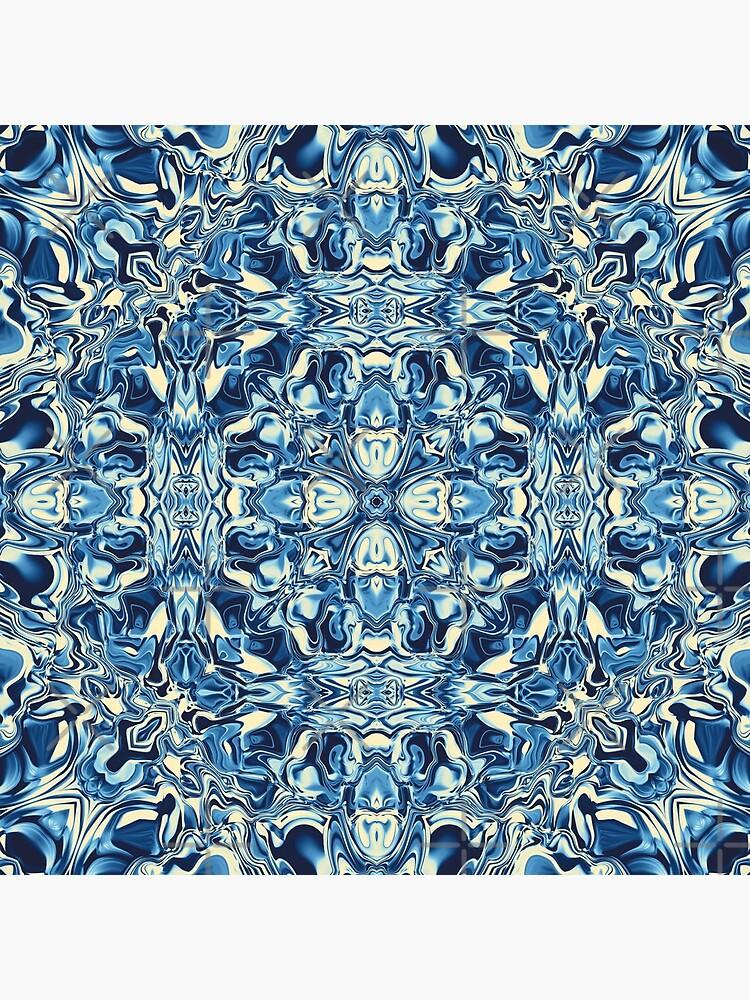 Liquefied Flow II - Blue Cream by ifourdezign