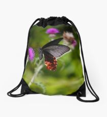 Butterfly And Thistle Drawstring Bag