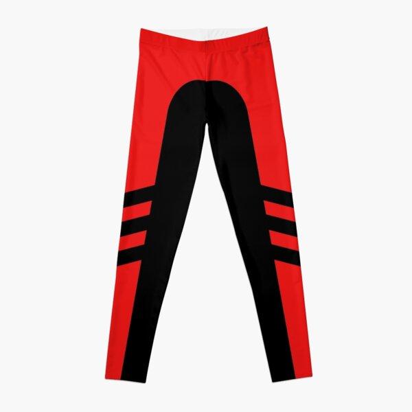 Black Red Two Stripe Leggings