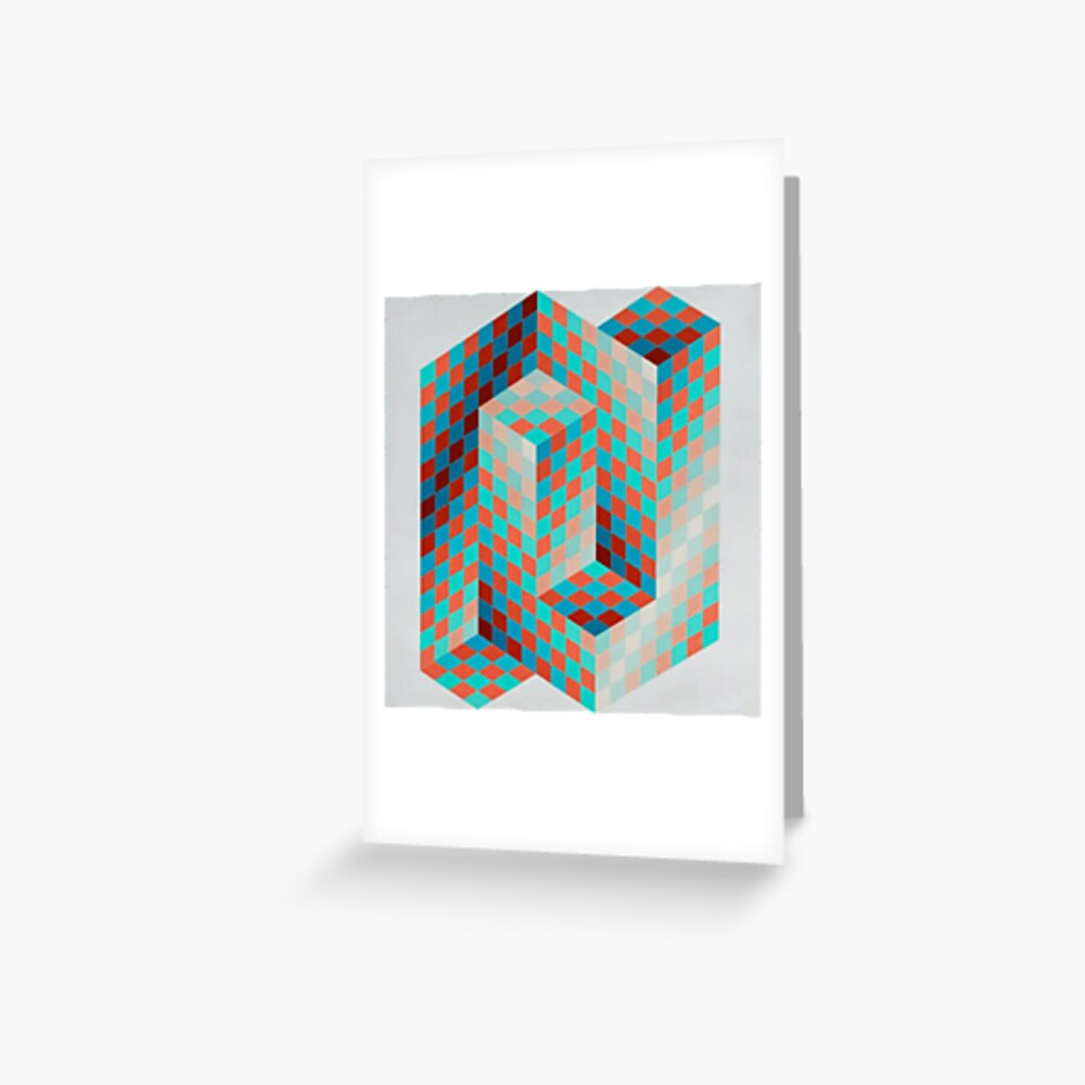 Op Art #OpArt Optical Art #OpticalArt Optical Illusions #OpticalIllusions #Illusion: Greeting Card