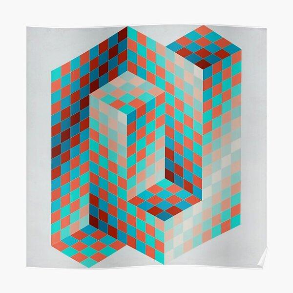 Op Art #OpArt Optical Art #OpticalArt Optical Illusions #OpticalIllusions #Illusion Poster