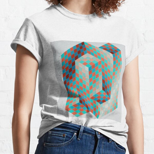 Op Art #OpArt Optical Art #OpticalArt Optical Illusions #OpticalIllusions #Illusion Classic T-Shirt