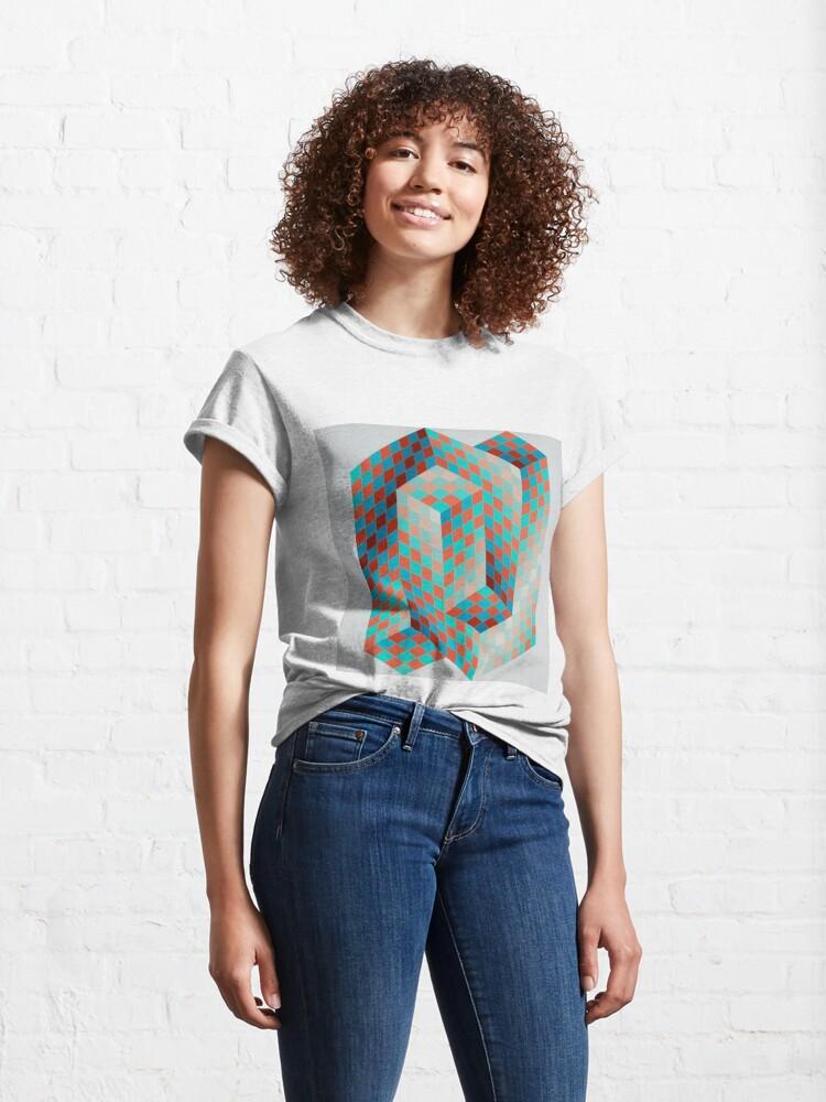 Alternate view of Op Art #OpArt Optical Art #OpticalArt Optical Illusions #OpticalIllusions #Illusion Classic T-Shirt