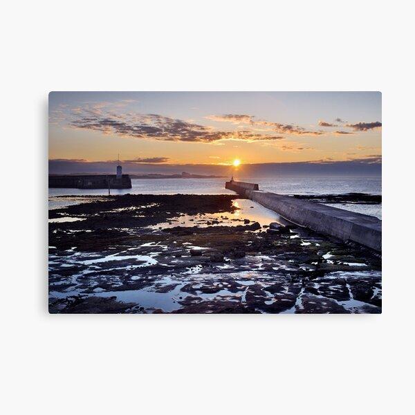 Seahouses Sunset Canvas Print