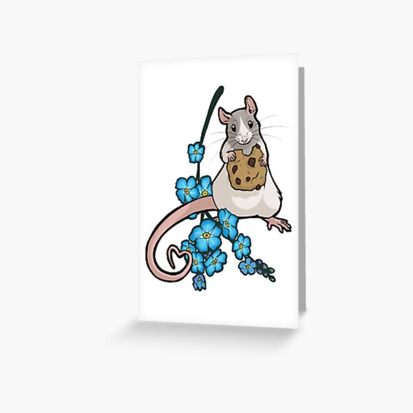 Forget Me Not 4 - dove hooded blaze Greeting Card