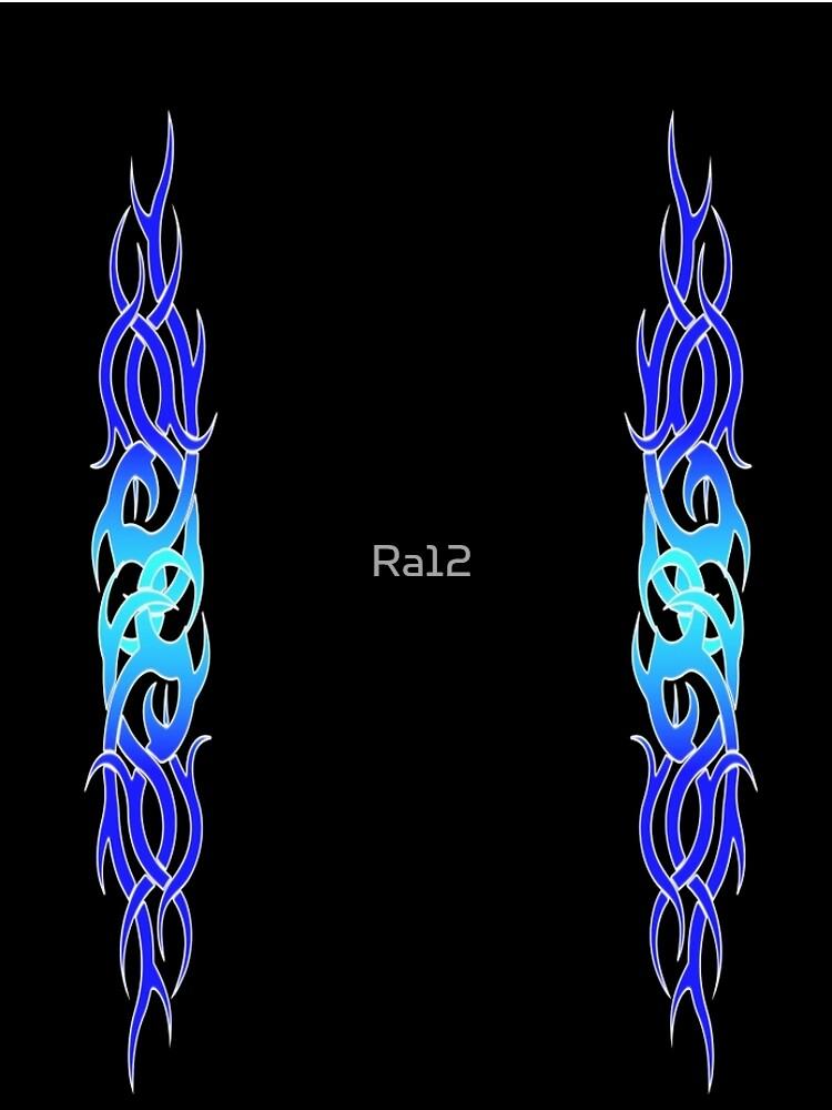 Tattoo Blue Flame Design Leggings by Ra12