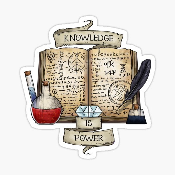 Mage - Knowledge is Power Sticker