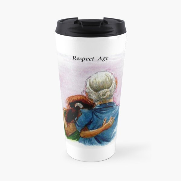 Respect Age: Inter-generational Friendships Travel Mug