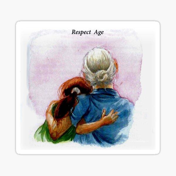 Respect Age: Inter-generational Friendships Sticker