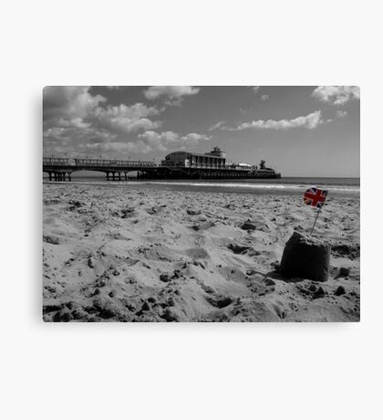Bournemouth Pier in Black and White Canvas Print