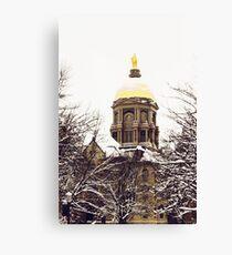 Notre Dame - Golden Dome Canvas Print