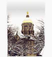 Notre Dame - Golden Dome Poster