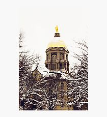 Notre Dame - Golden Dome Photographic Print