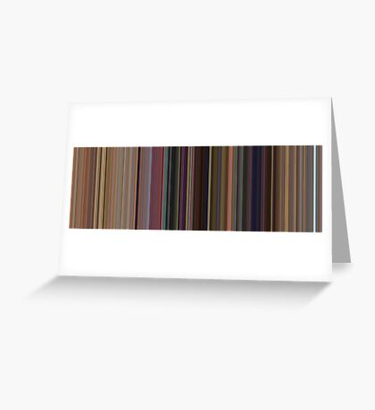 Moviebarcode: Toy Story (1995) [Simplified Colors] Greeting Card