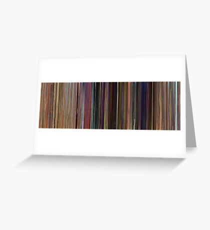Moviebarcode: Toy Story (1995) Greeting Card