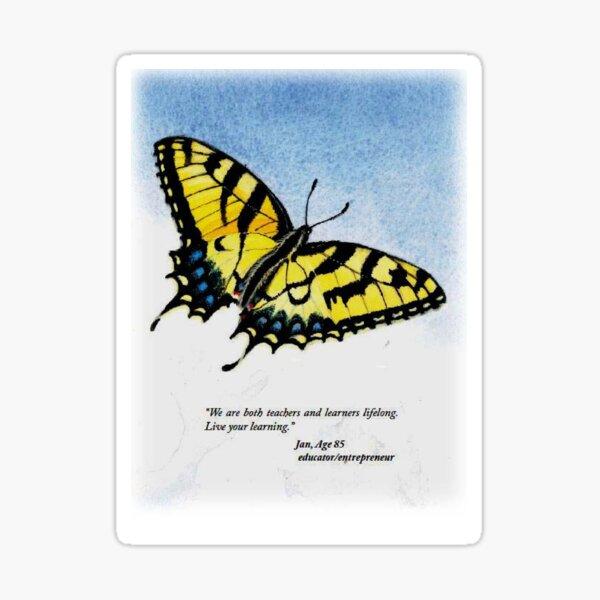 Lifelong Learning Butterfly Sticker