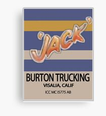 Jack Burton Trucking Canvas Print