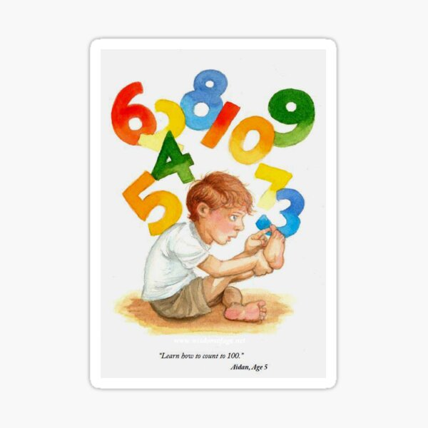 Counting Toes: Childhood Innocence Sticker