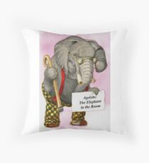 Ageism: The Elephant in the Room Throw Pillow