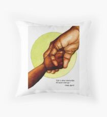 Holding Hands Across Generations Throw Pillow