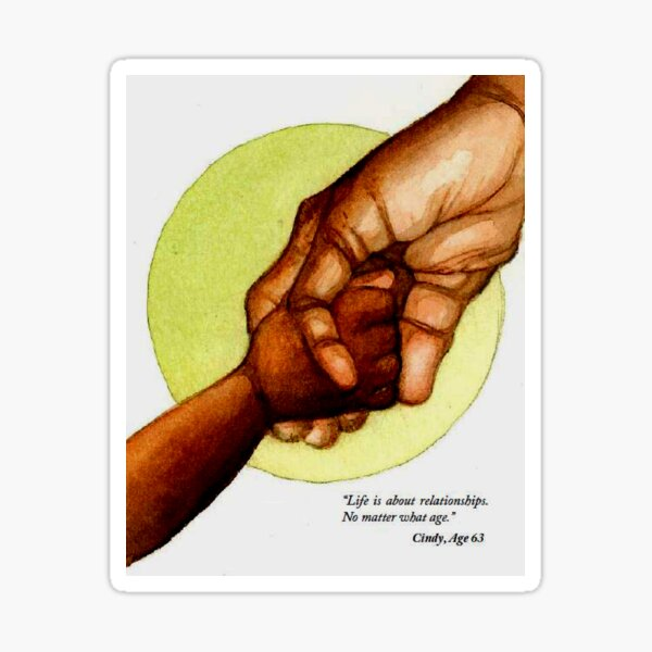 Holding Hands Across Generations Sticker