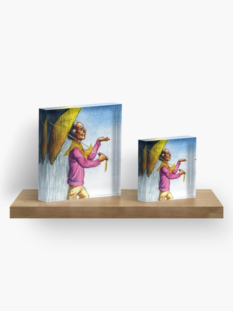 Alternate view of Choose to Enjoy Life Even on the Rainiest Days Acrylic Block