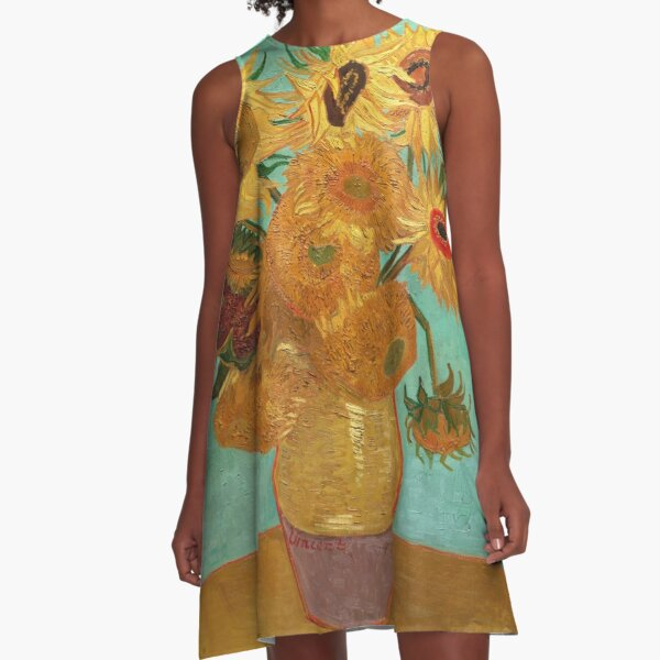 Vincent Van Gogh Twelve Sunflowers In A Vase A-Line Dress