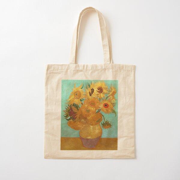Vincent Van Gogh Twelve Sunflowers In A Vase Cotton Tote Bag