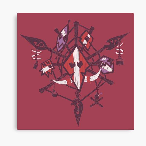 Darkspear Crest - Warm Background Canvas Print