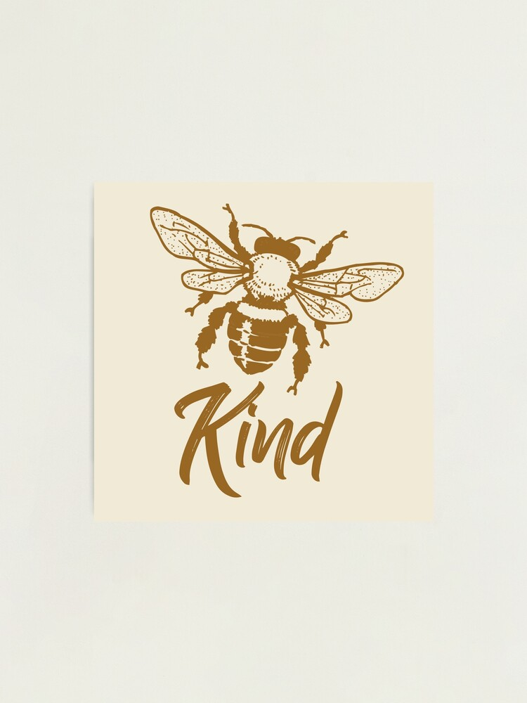 Alternate view of Bee kind typography text art quote by Word Fandom - wordfandom Photographic Print