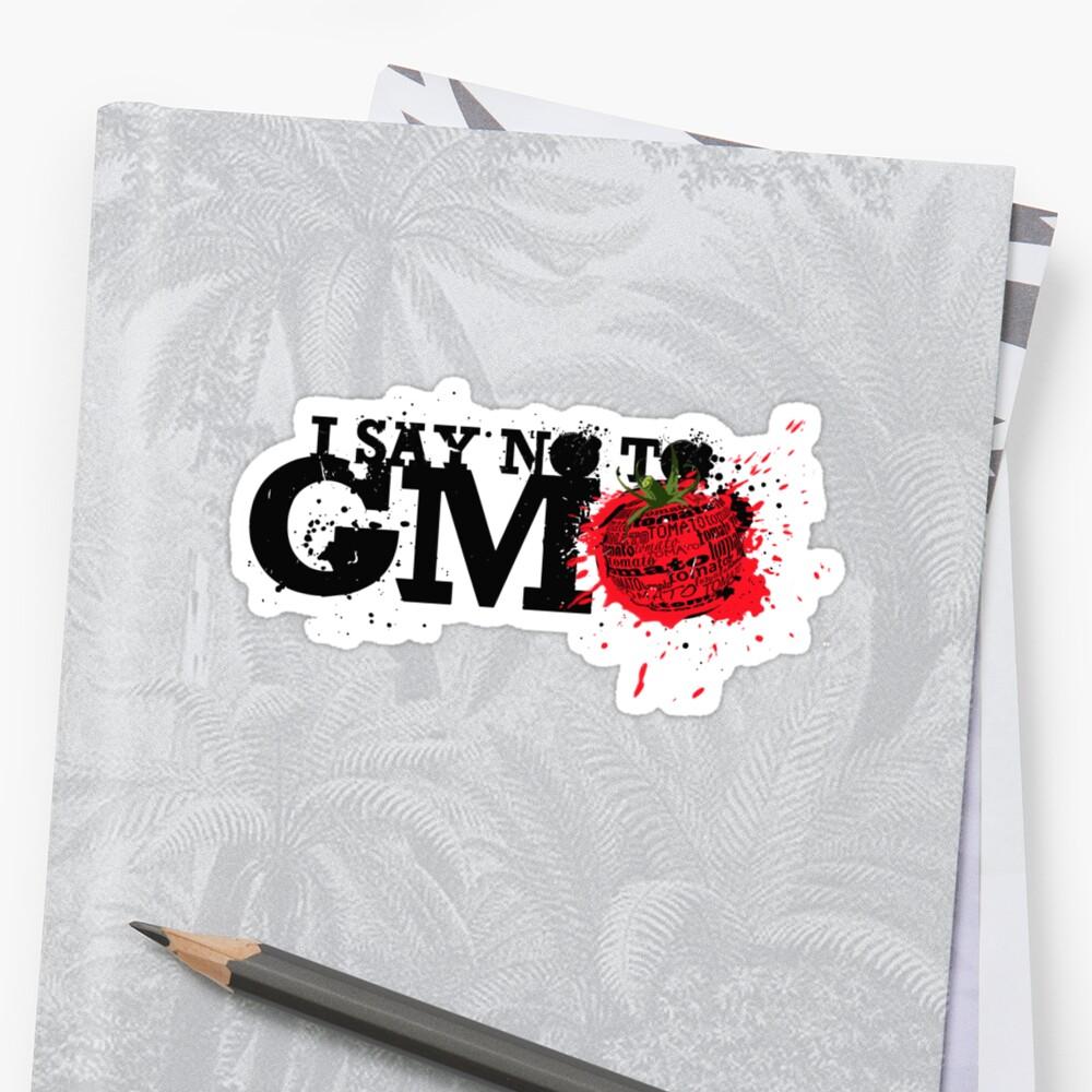 NO GMO graffiti art print / sticker by SFDesignstudio