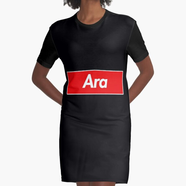 Ara Name Label - Gift For Female Named Ara Graphic T-Shirt Dress
