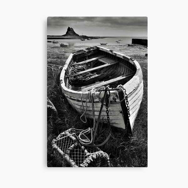 Old boat and lobster pots - Lindisfarne Canvas Print
