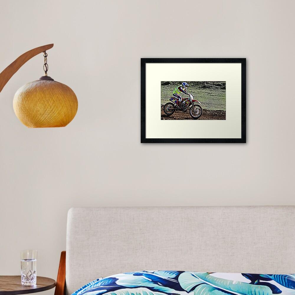 Motor Cross Framed Art Print
