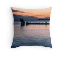 galway sunset.. Throw Pillow