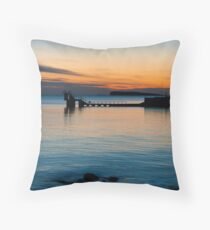 sunset.. blackrock, salthill Throw Pillow