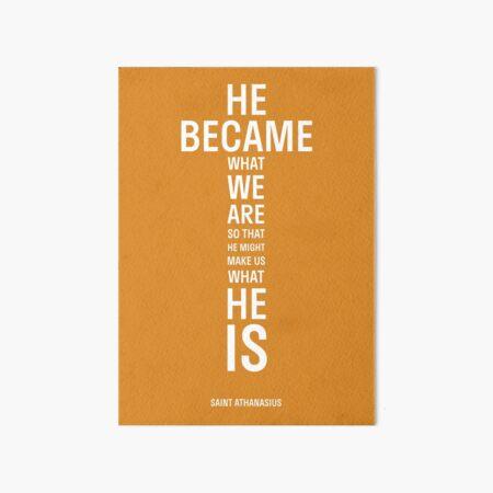 Saint Athanasius Cross Poster Art Board Print