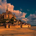 France. Normandy. Mont Saint-Michel in pink light. by vadim19