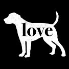 Foxhound Love - A Minimalist Distressed Vintage Style Design for Dog Lovers by traciwithani