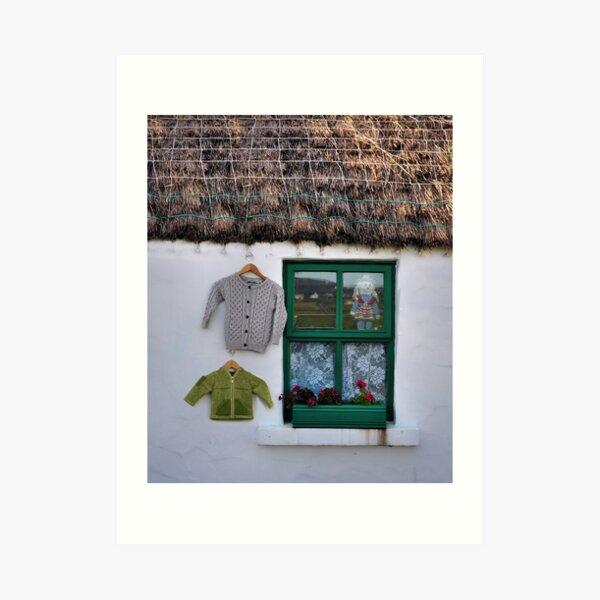 green window.. Art Print