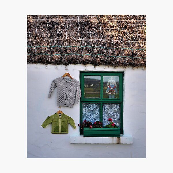 green window.. Photographic Print