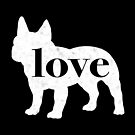 French Bulldog Love - A Minimalist Distressed Vintage Style Design for Dog Lovers by traciwithani