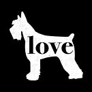 Giant Schnauzer Love - A Minimalist Distressed Vintage Style Design for Dog Lovers by traciwithani