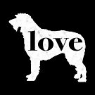 Irish Wolfhound Love - A Minimalist Distressed Vintage Style Design for Dog Lovers by traciwithani