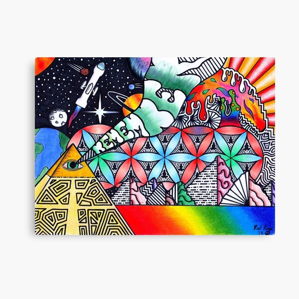 Pyramids of Dimethyltryptamine (DMT) Canvas Print