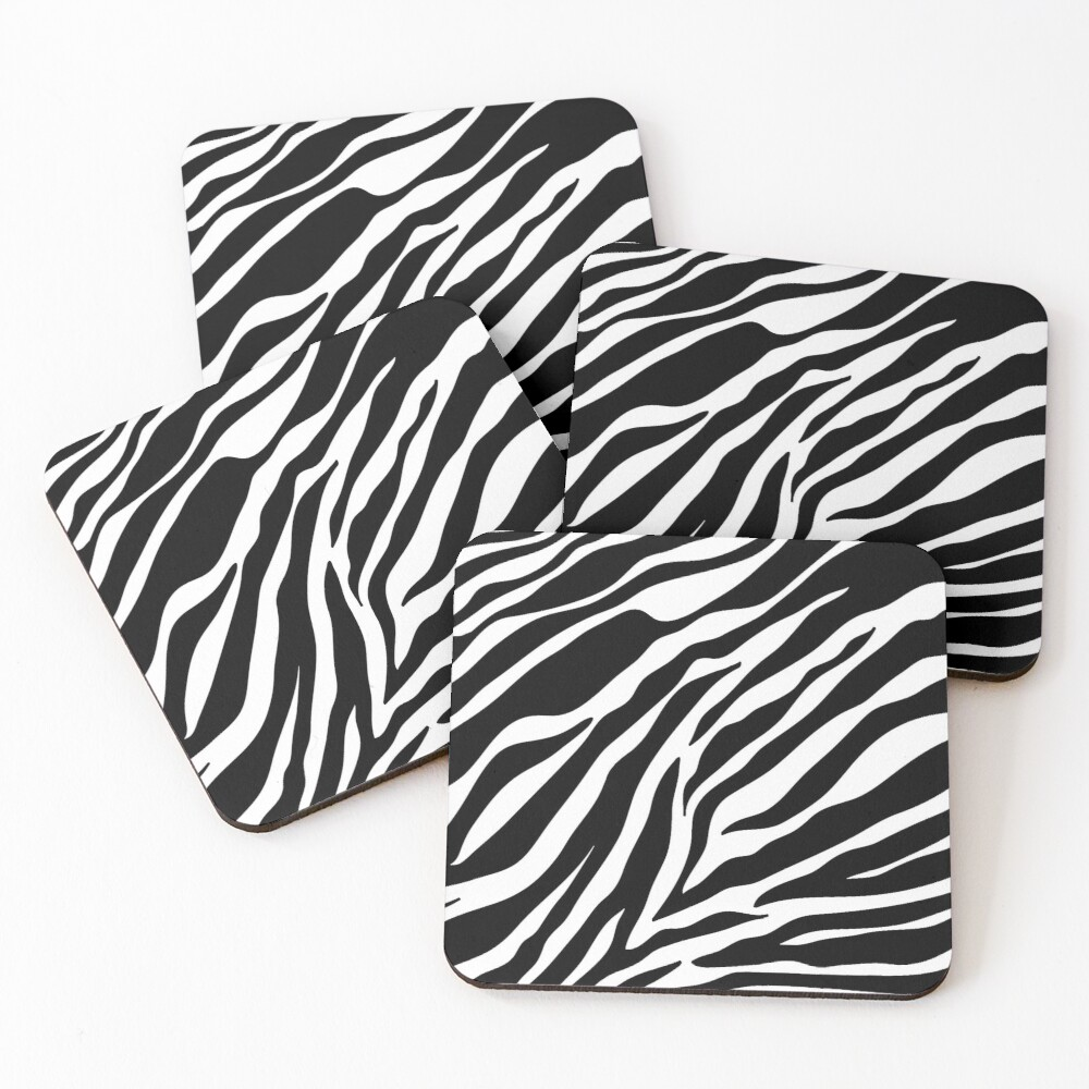 Zebra Pattern Coasters (Set of 4)