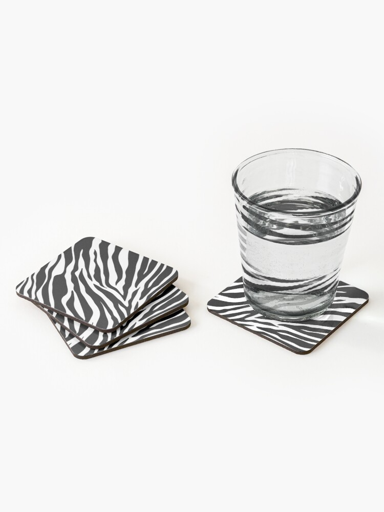 Alternate view of Zebra Pattern Coasters (Set of 4)