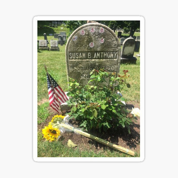 Susan B. Anthony Grave, I Voted stickers Sticker