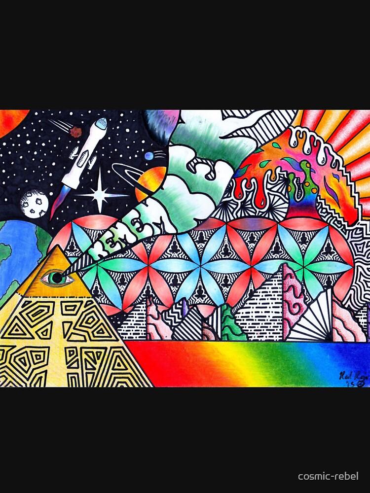 Pyramids of Dimethyltryptamine (DMT) by cosmic-rebel