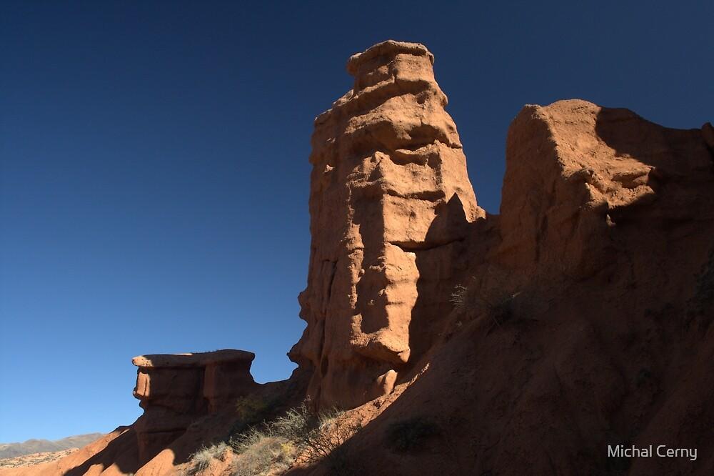 Sandstone formations in Konorchok canyon, Kyrgyz range, Kyrgyzstan by Michal Cerny